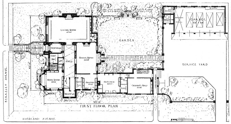 Franklin Murphy House - First Floor Plan